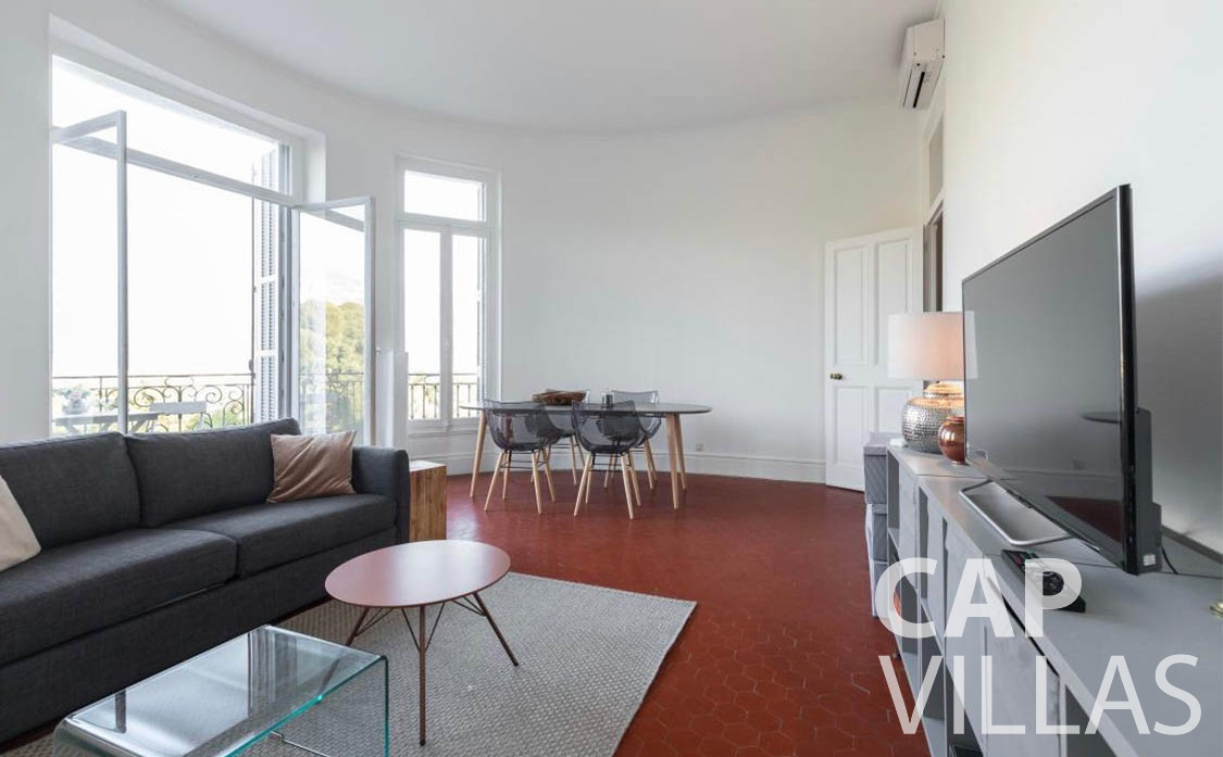 apartment for rent cap martin roquebrune living area