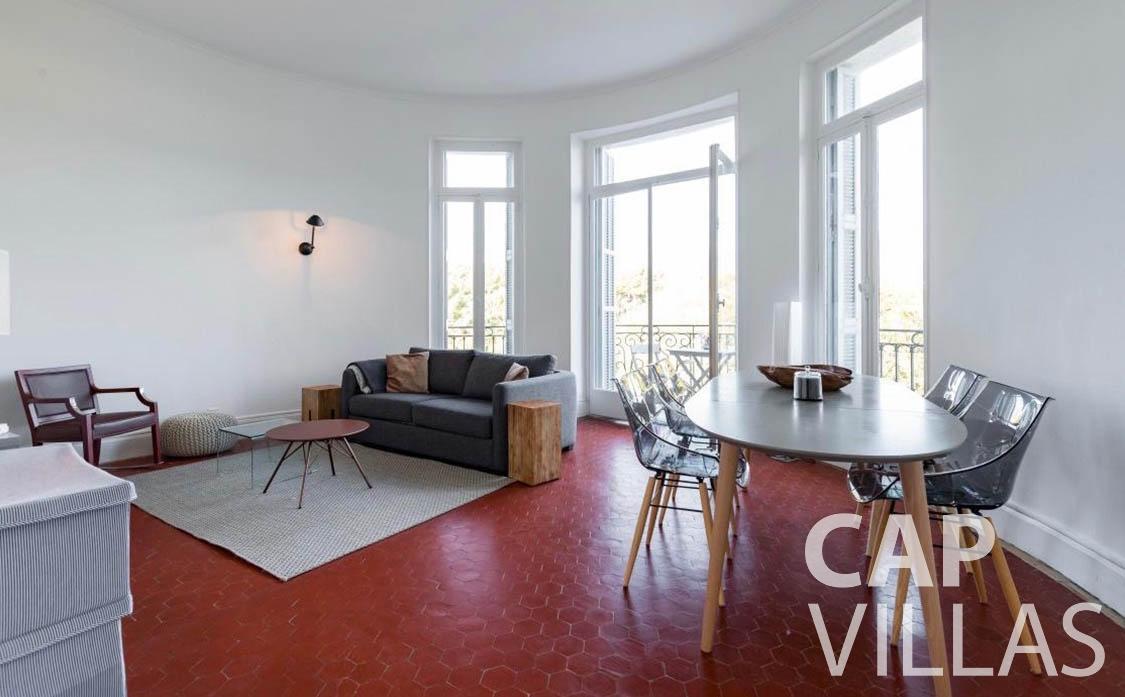 apartment for rent cap martin roquebrune living room