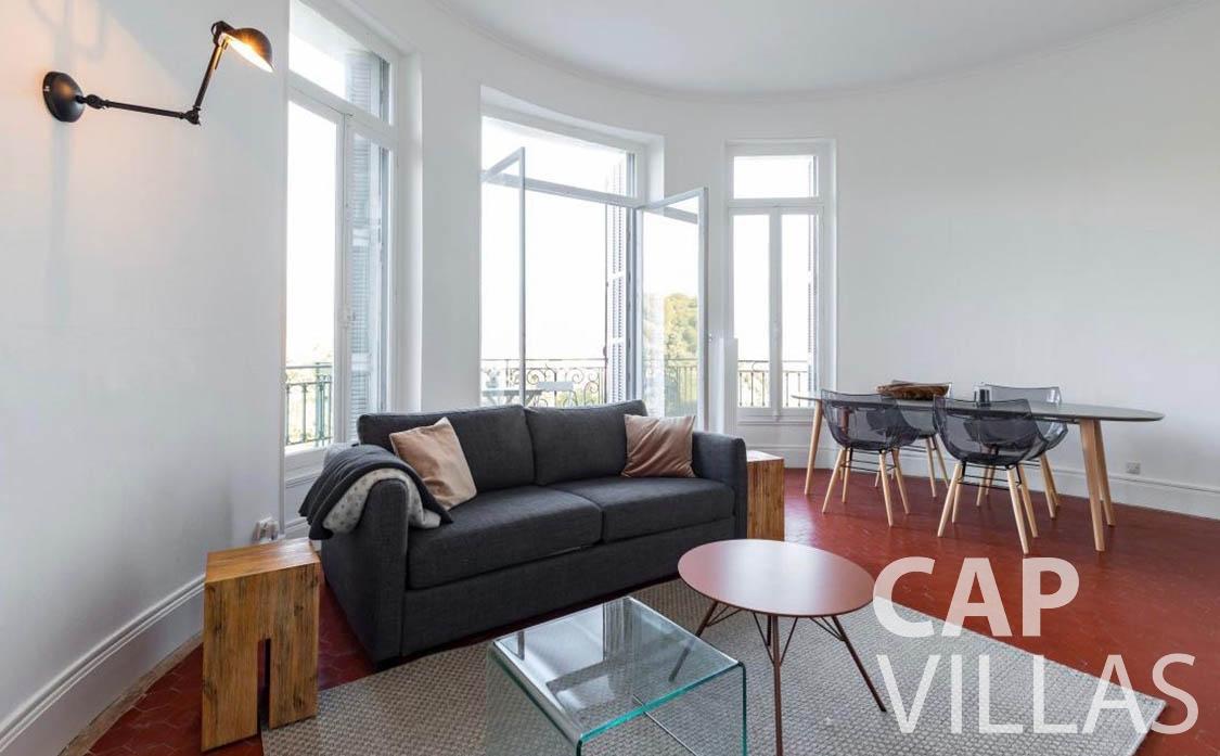 apartment for sale cap martin roquebrune living area