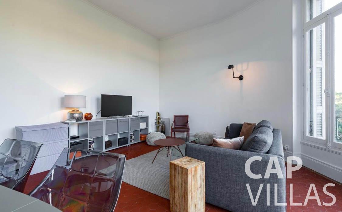 apartment for sale cap martin roquebrune living room