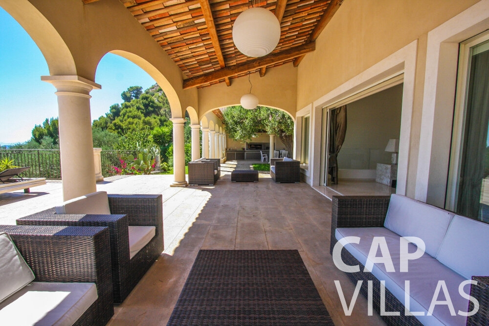 holiday rental Villa Camellia cap dail terrace