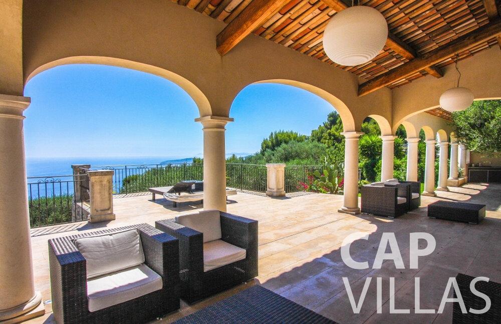rent Villa Camellia cap dail terrace