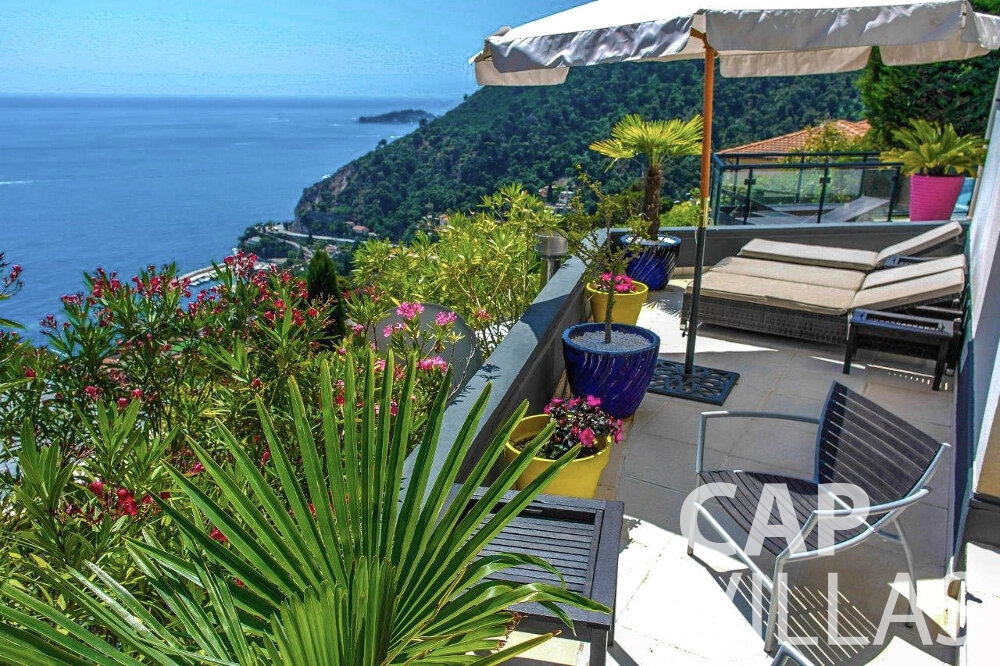 rent Villa Gardenia eze outdoor sea view