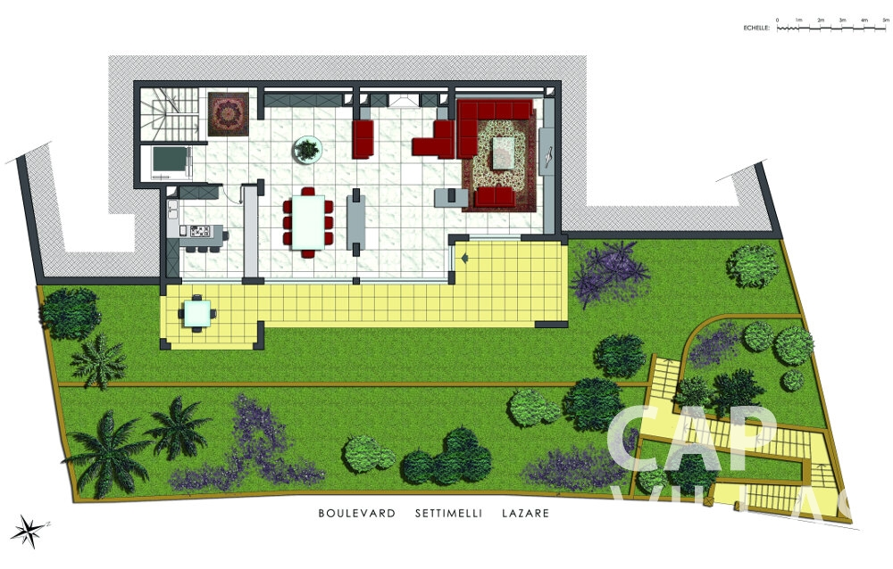 villa for sale villefranche floorplan boulevard settimelli lazare ground floor