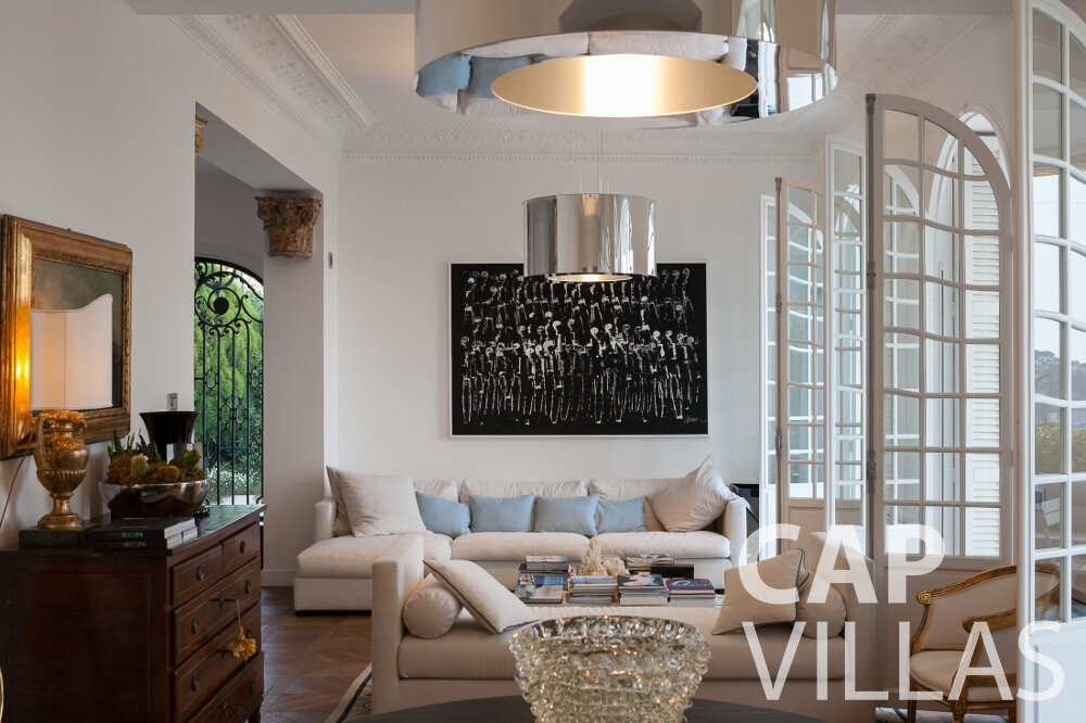 holiday rental Villa Senna villefranche living area