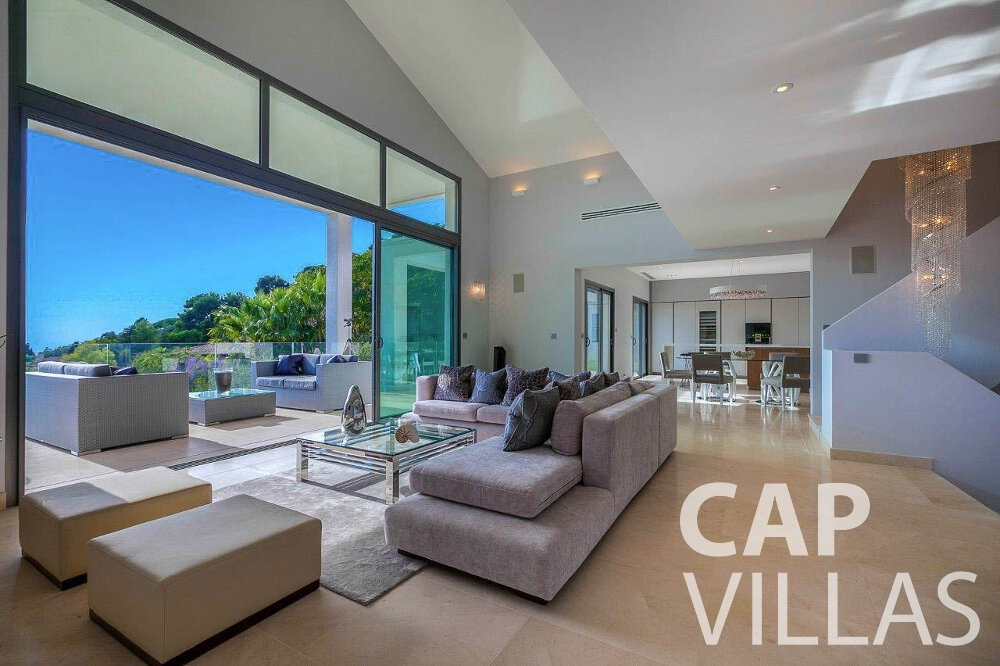 villa for sale villefranche terrace view