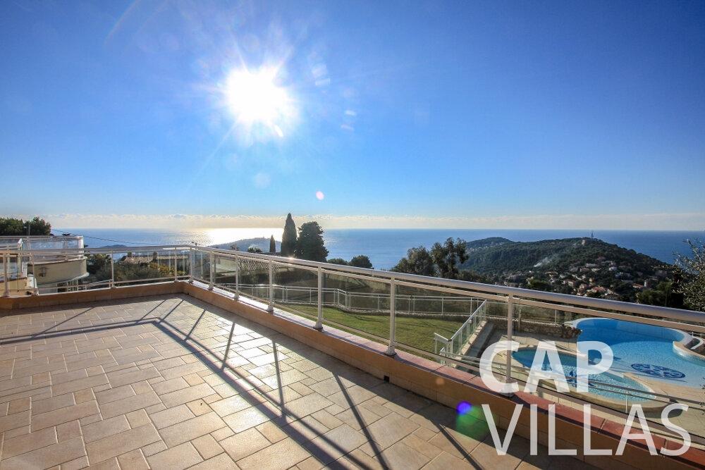 rent Villa Fiorello villefranche balcony