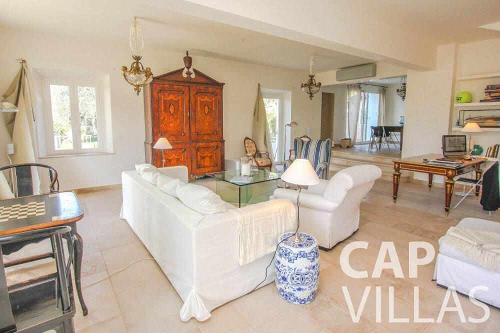 villa for sale cap de nice living room