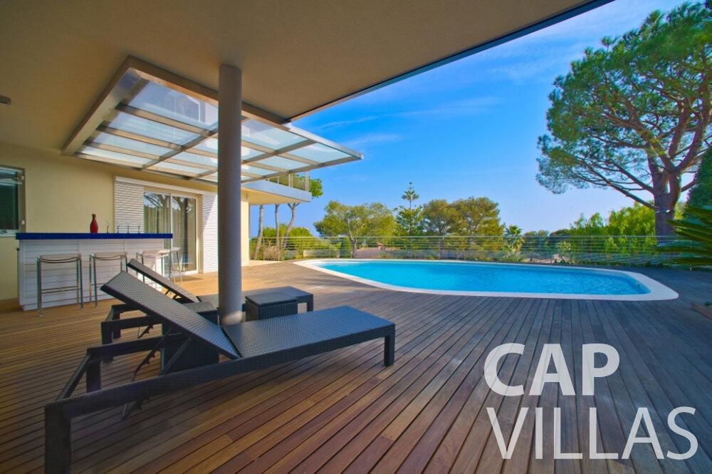 rent Villa Tulip cap ferrat terrace