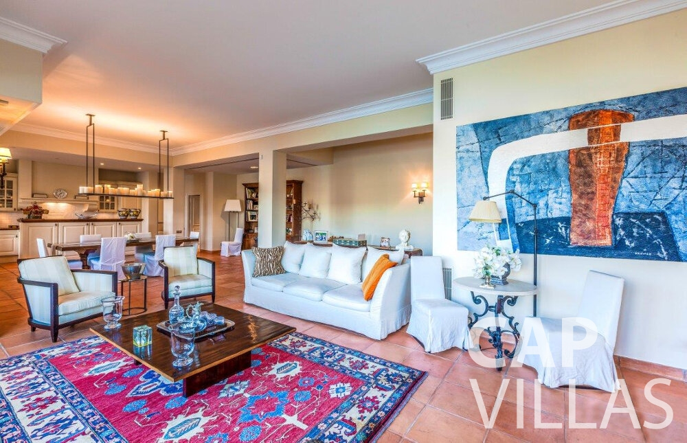 rent Villa Aster cap ferrat living room