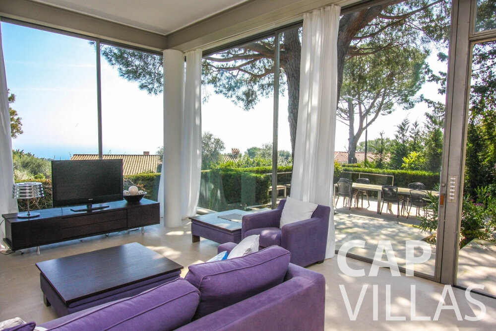 holiday rental Villa Lavender cap ferrat living area