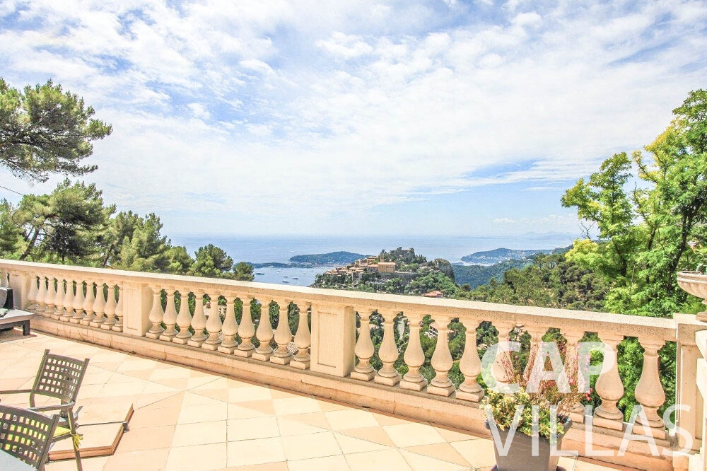 villa for sale eze terrace view