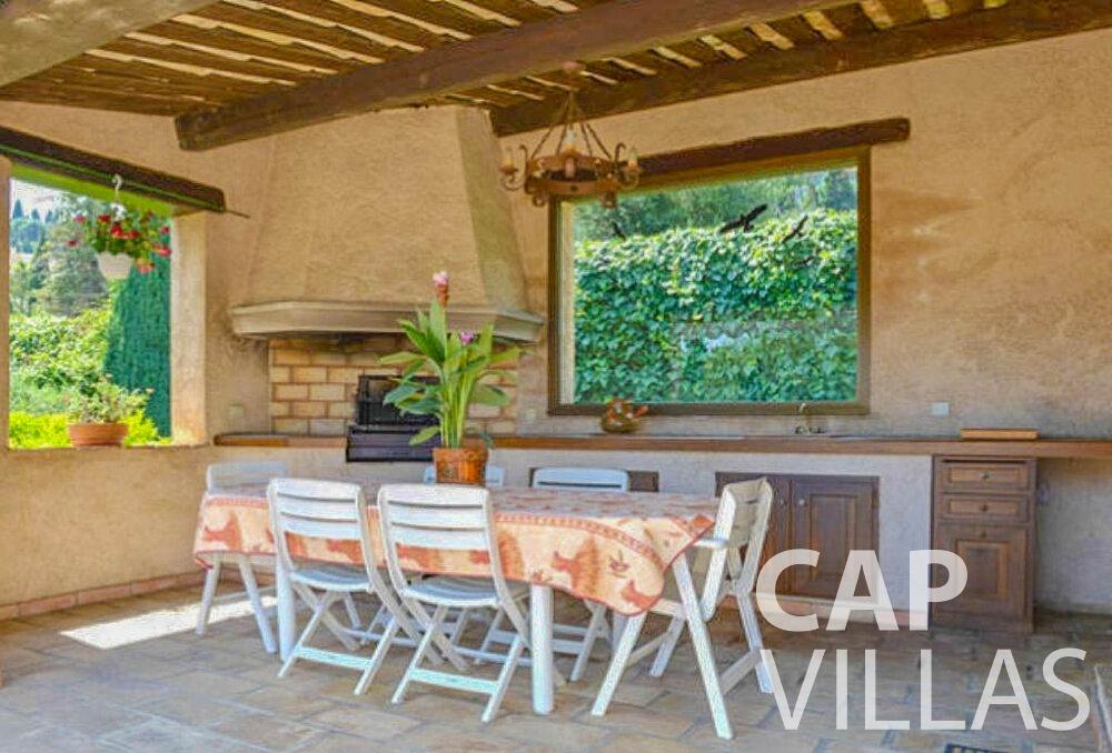 rent Villa Primrose cap martin roquebrune dining room
