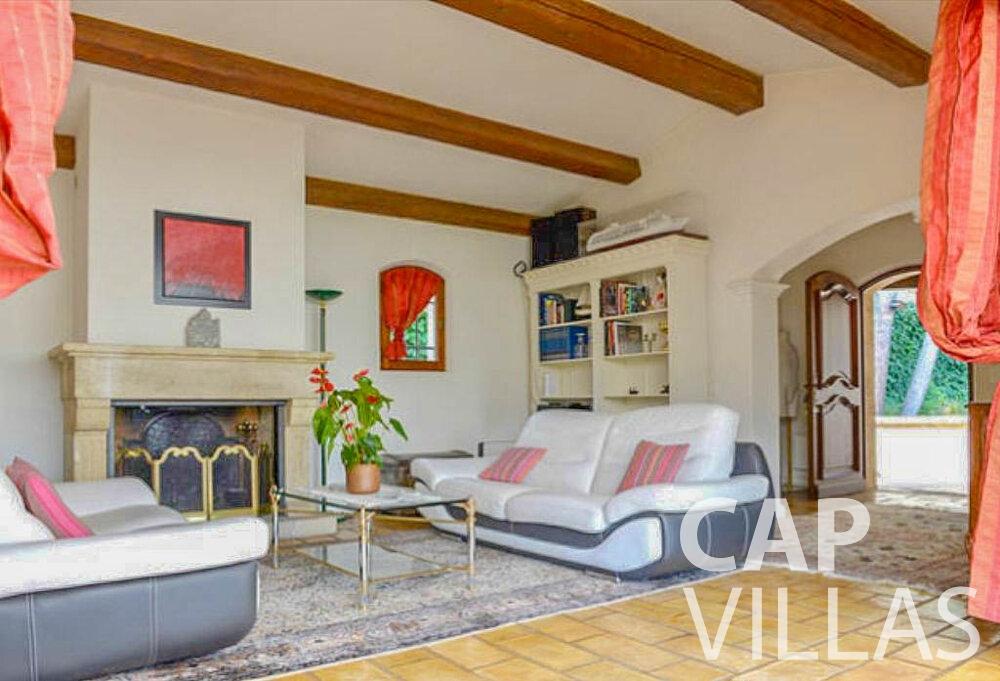 rent Villa Primrose cap martin roquebrune living area