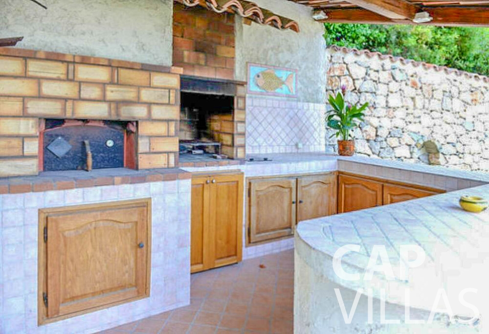 rent Villa Primrose cap martin roquebrune outdoor kitchen