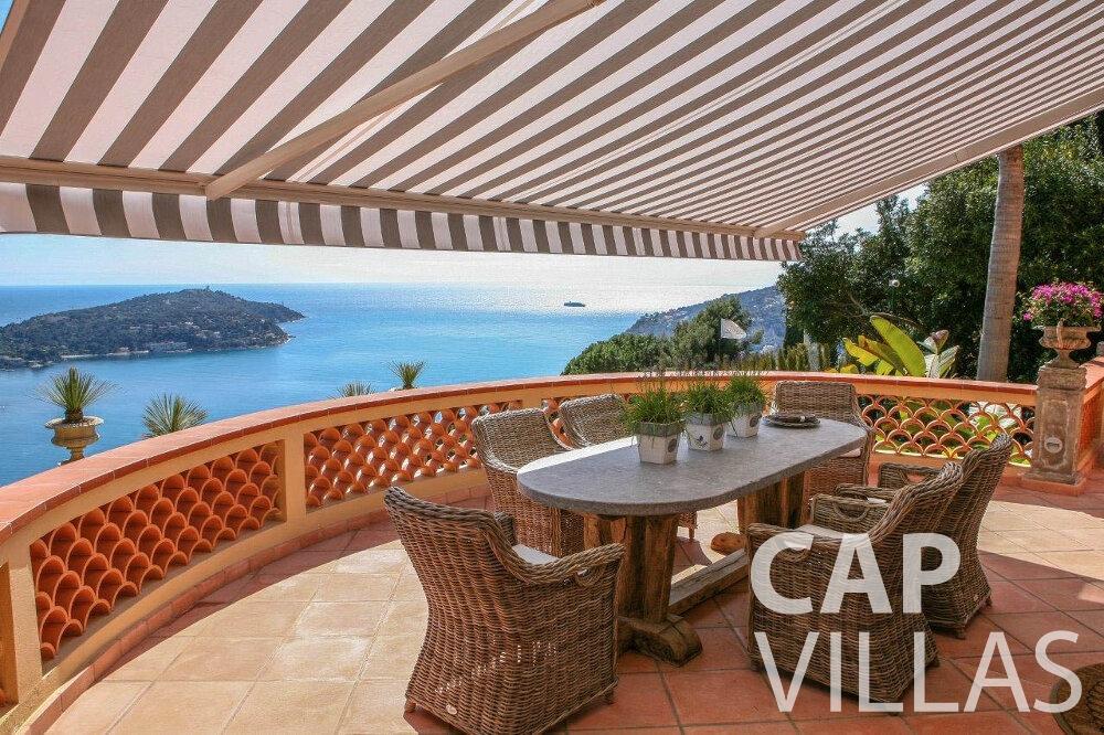 rent Villa Azalea villefrenche covered terrace