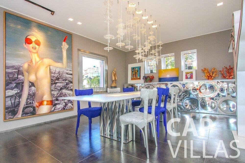 rent Villa Dahlia cap ferrat dining room