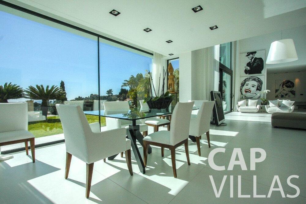 holiday rental Villa Flora cap martin roquebrune dining area