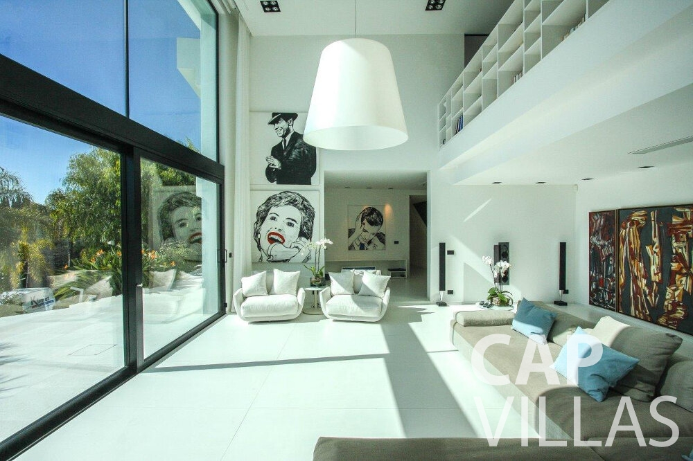 rent Villa Flora cap martin roquebrune living area