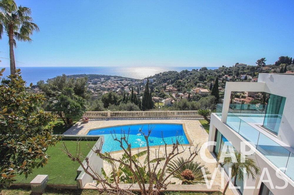 rent Villa Flora cap martin roquebrune sea view