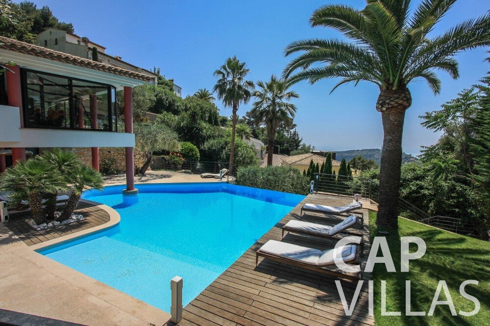 property for sale villefranche pool palm tree