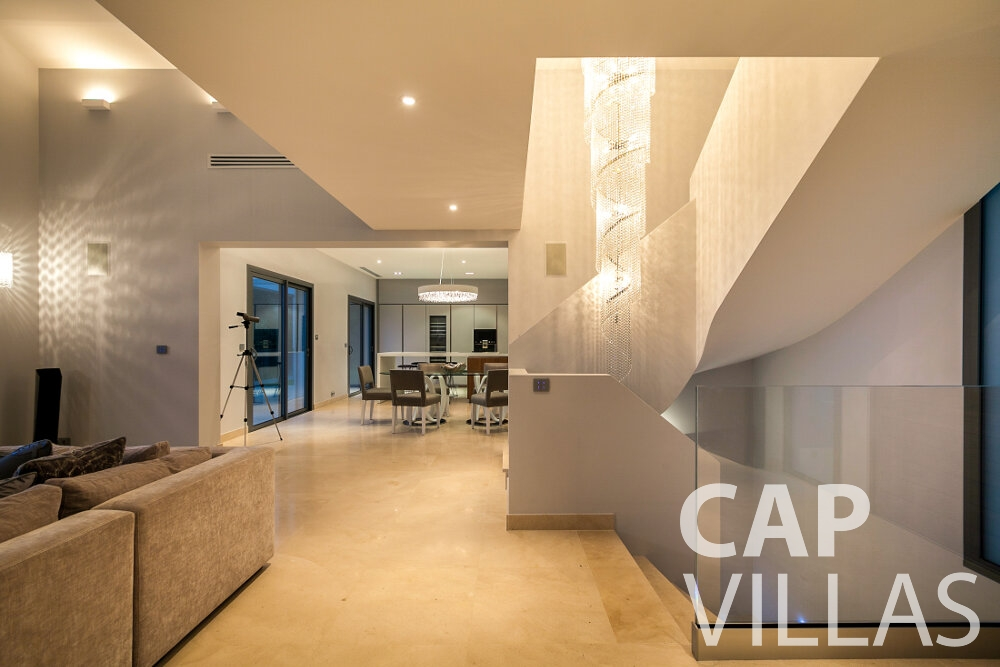 let Villa Rose villefranche living area