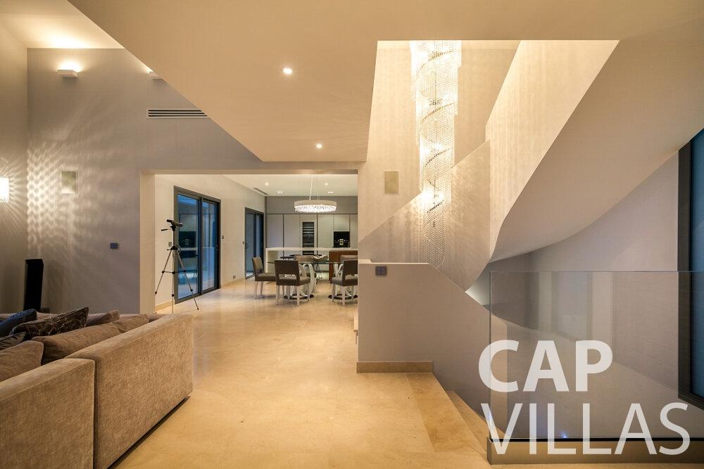 let Villa Rose villefranche living area