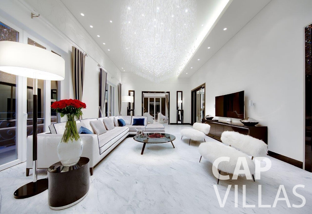 villa for sale cap dail luxury living rool