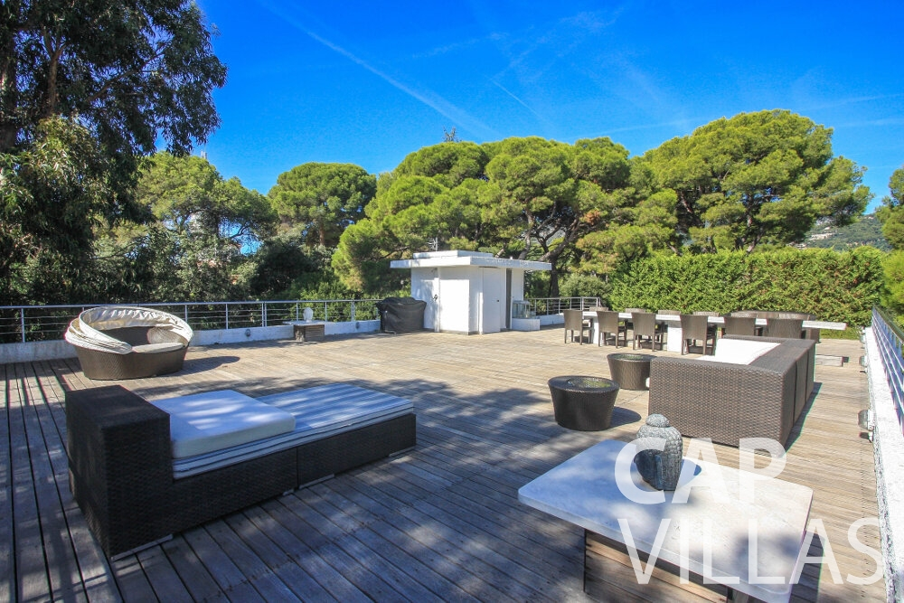 let Villa Saffron cap martin roquebrune roof terrace