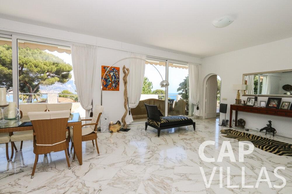 rent Villa Saffron cap martin roquebrune living room