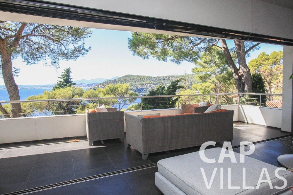 holiday rental Villa Bluebell cap ferrat living area