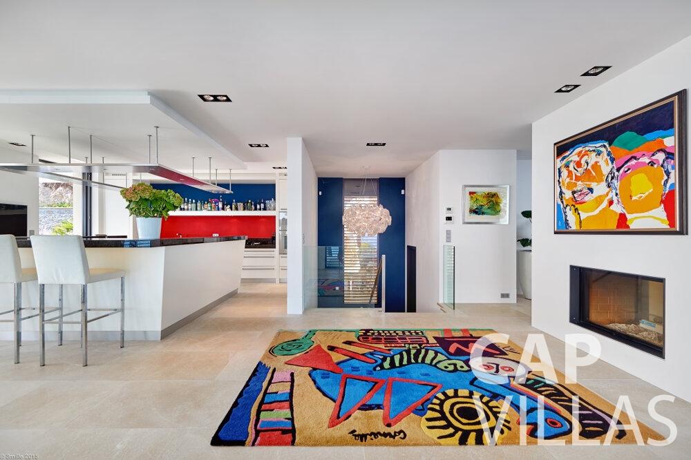 let Villa Oleander villefranche living room
