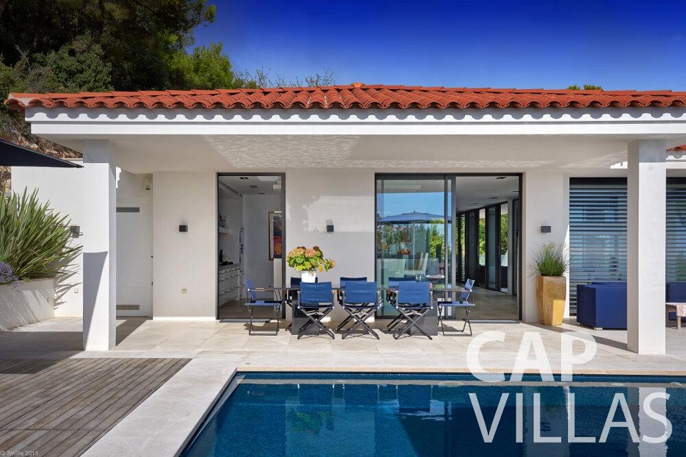 rent Villa Oleander villefranche terrace