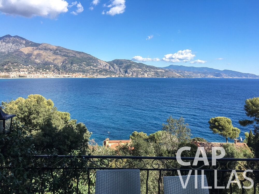 let Villa Olive cap martin roquebrune sea view