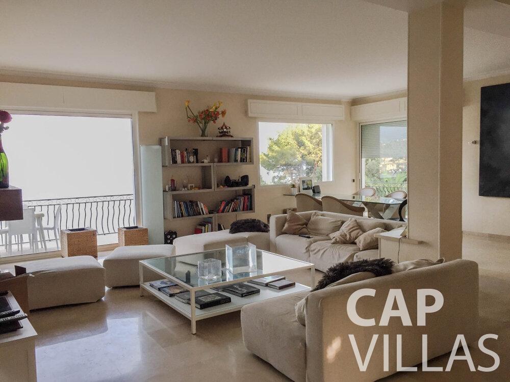 rent Villa Olive cap martin roquebrune living area