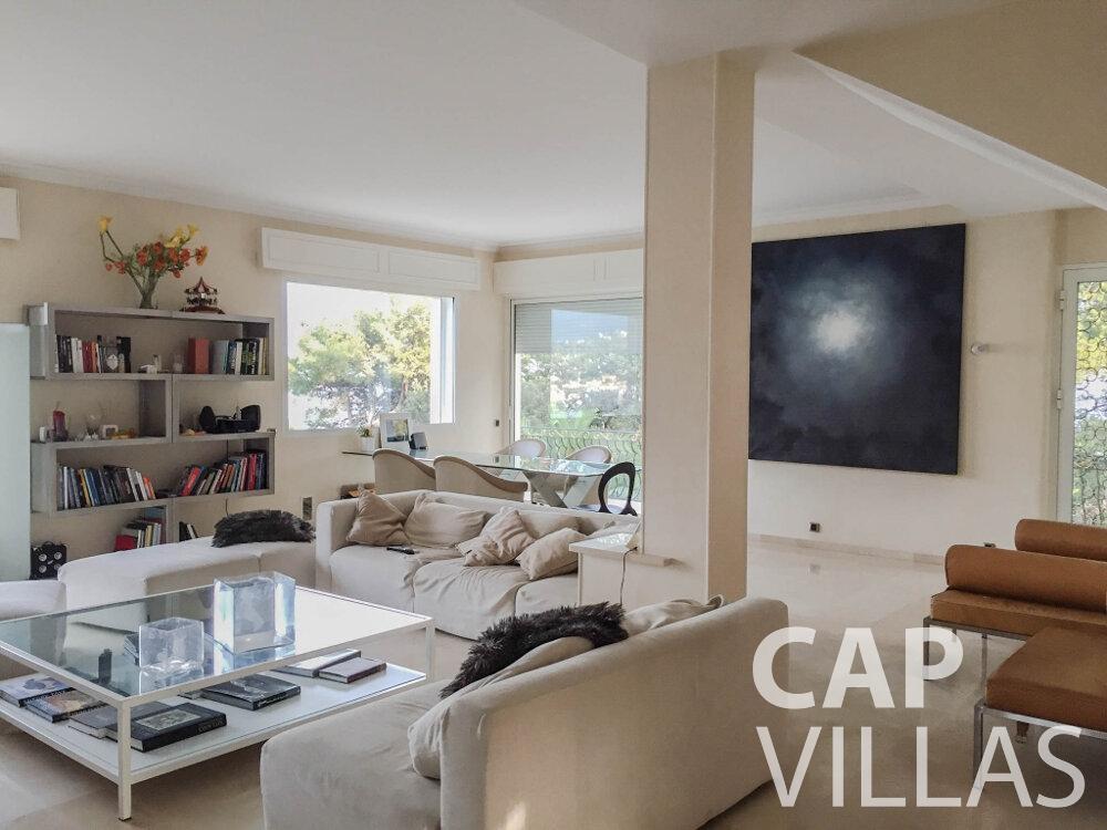 rent Villa Olive cap martin roquebrune living room