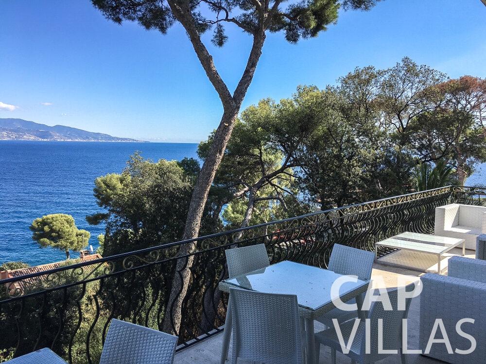 rent Villa Olive cap martin roquebrune terrace