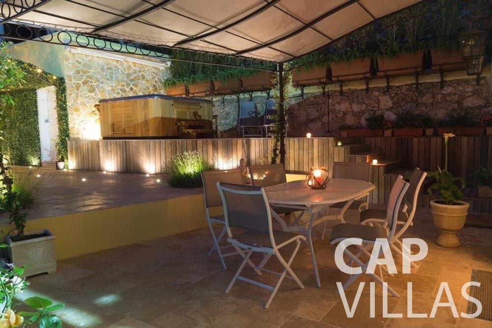 holiday rental Villa Hazel cap martin roquebrune terrace