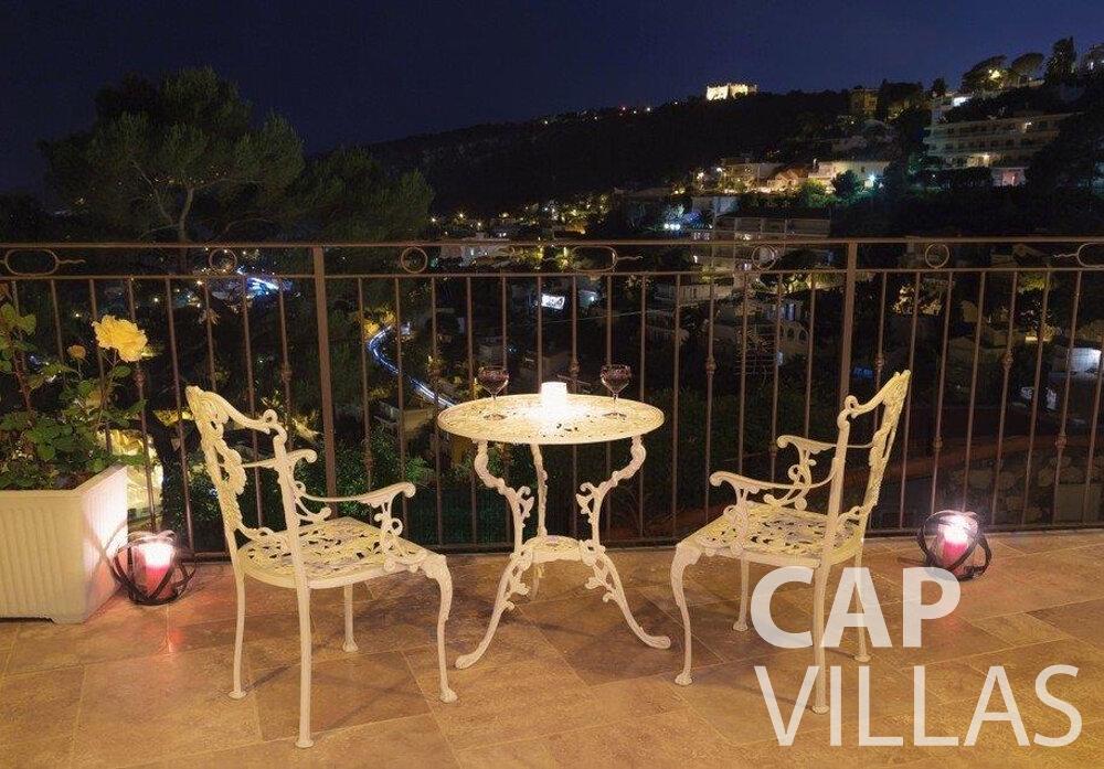 rent Villa Hazel cap martin roquebrune terrace
