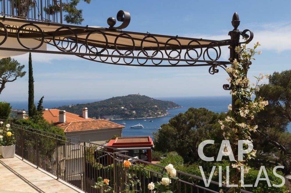 rent Villa Hazel cap martin roquebrune terrace sea view