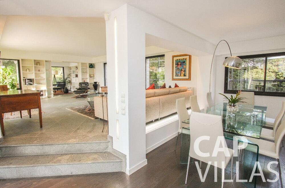 holiday rental Villa Cedar cap martin roquebrune living area