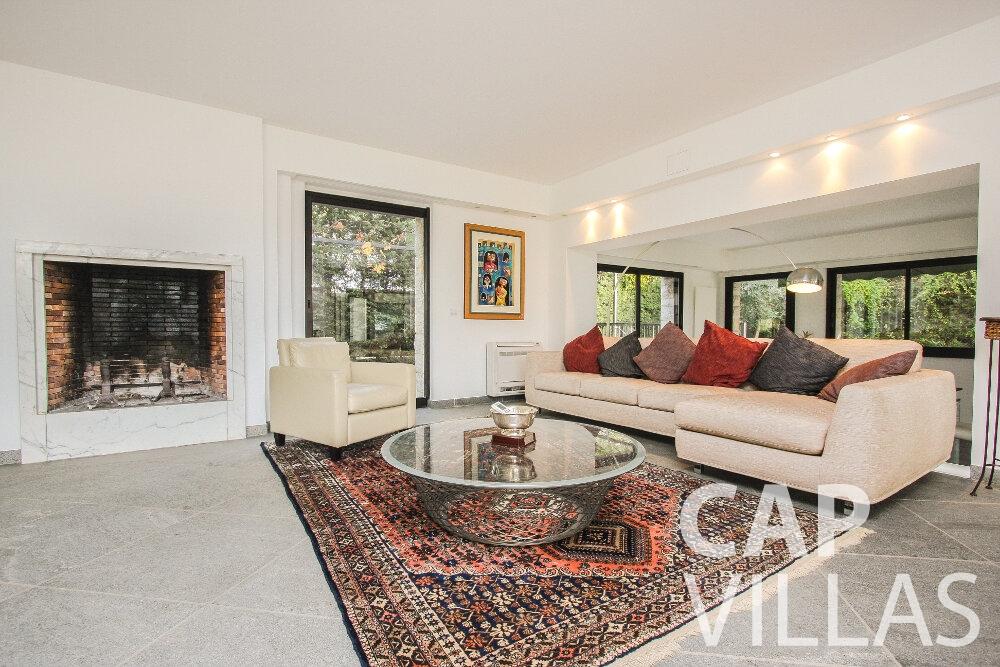 rent Villa Cedar cap martin roquebrune living area