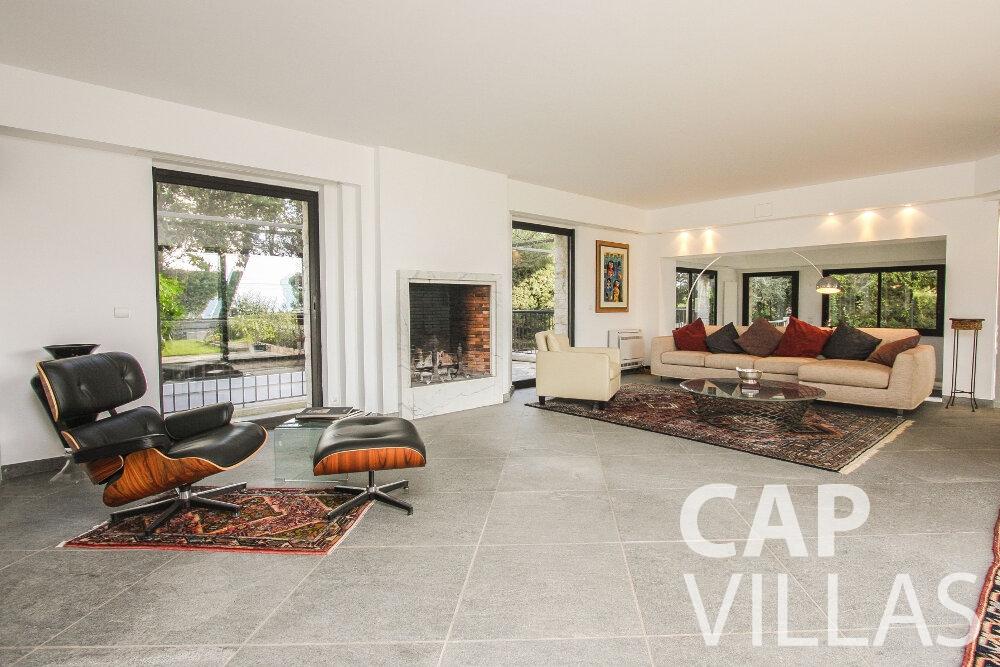 rent Villa Cedar cap martin roquebrune living room