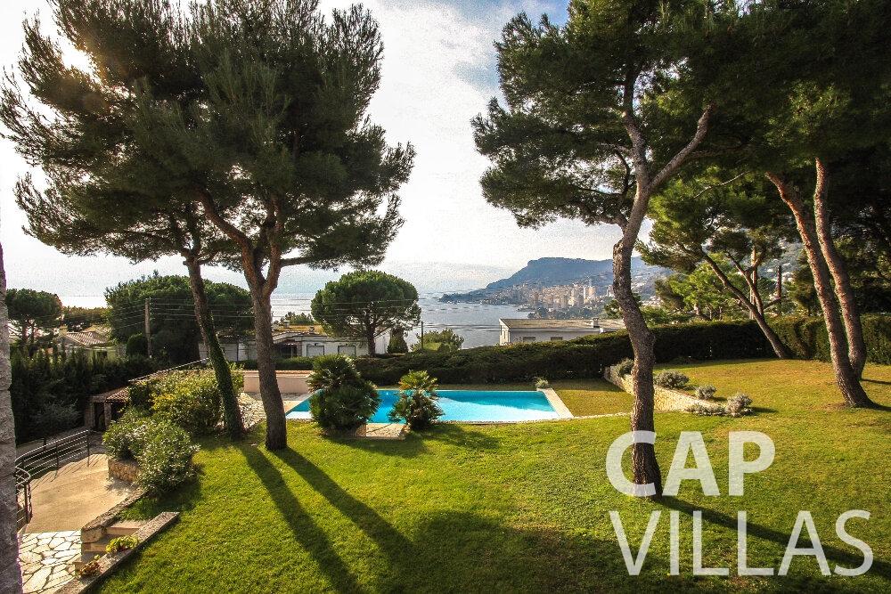 rent Villa Cedar cap martin roquebrune sea view