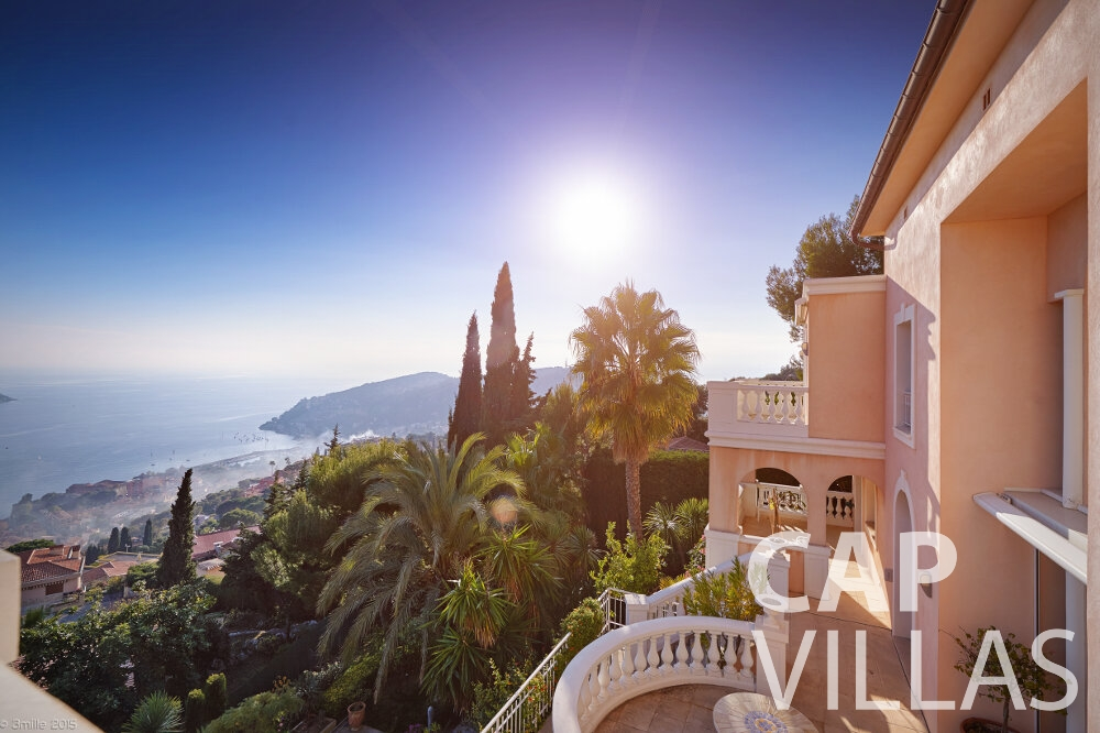 holiday home for sale villefranche terrace view
