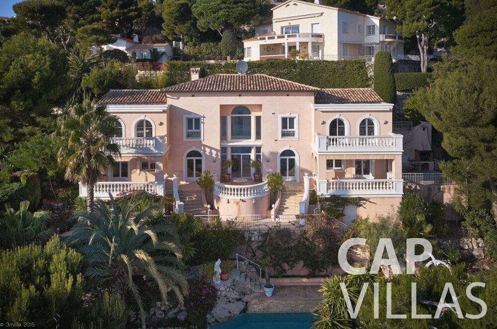villa for sale villefranche aerial view