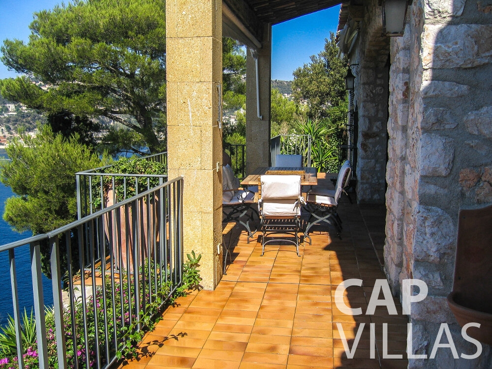 holiday rental Villa Verbena cap ferrat terrace