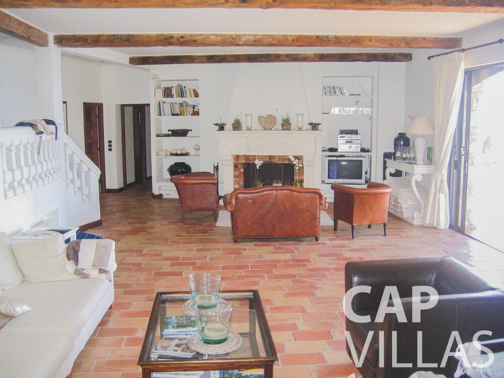 rent Villa Verbena cap ferrat living area