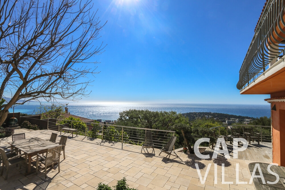 property for sale cap martin terrace sea view