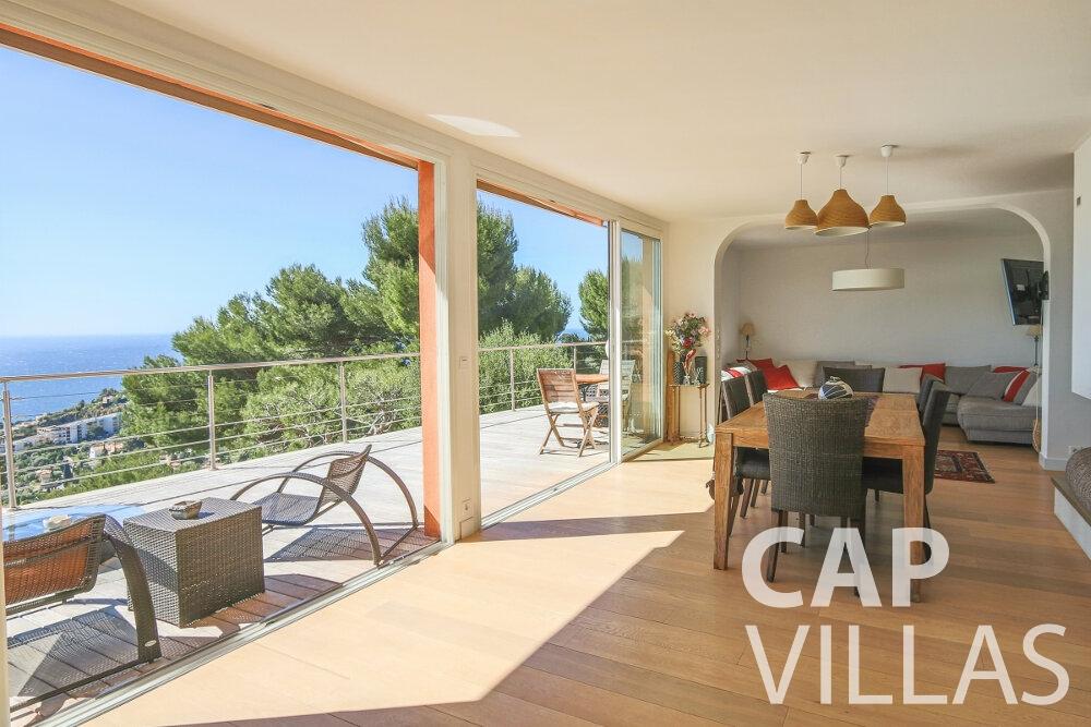 villa for sale cap martin living area